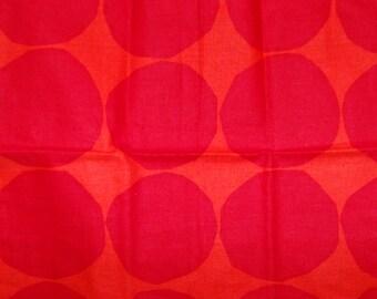 Handmade Marimekko Pienet Kivet Christmas red pillow case, 35x35cm, Finland