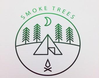 Smoke Trees Stoner Silkscreen Poster