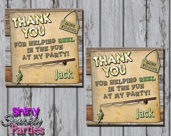 Printable FISHING FAVOR TAGS - Fishing Party Favor Tags - Fishing Birthday Favor Tags - Fisherman Bag Tags - Fishing Party Decoration