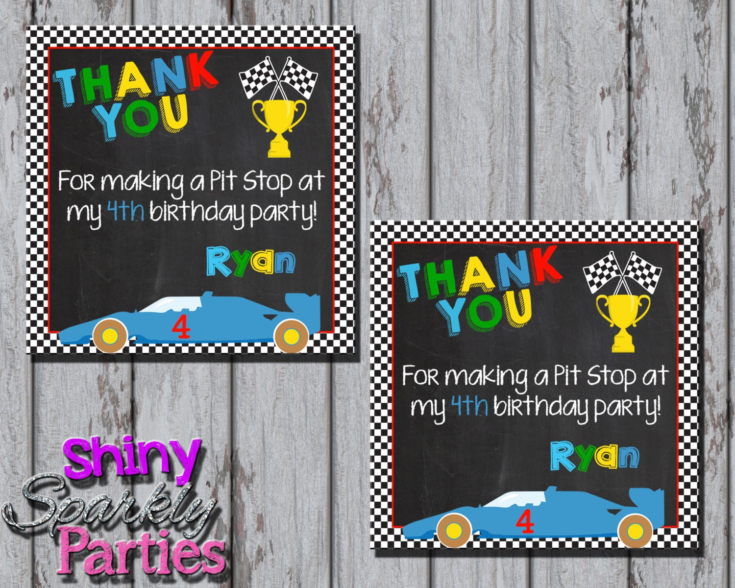 Race Car Birthday Party: Printable RACE CAR Favor TAGS