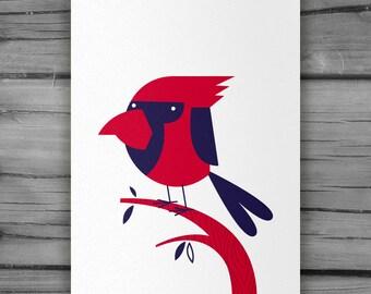 Botanic Poster : Red Cardinal