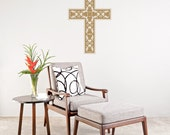 Free US Shipping. Elegant Christian Cross Vinyl Wall Graphic Decal. ~ Item 0160