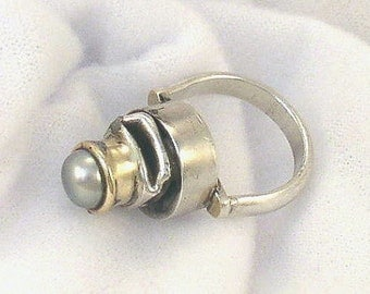 My Penis Ring, jewelry,one of a kind ring,sterling silver ring,unique ring,pearl ring,penis ring,silver ring,large ring,one of a kind