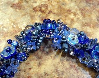SALE 25% OFF! Sapphire Blue Beaded Bracelet