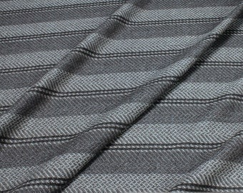 fabric pure new wool herringbone stripes grey anthracite warm