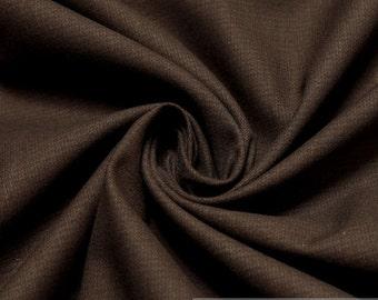 Fabric cotton elastane twill dark brown denim trouser jacket