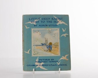 1968 Little Grey Rabbit goes to the Sea by Alison Uttley - Illust Margaret Tempest - Hardback with dust jacket - Childrens Vintage Book
