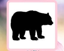 Bear Reusable Craft Stencil                           #bear, #Bearsilhouette, #grizzly, #brownbear, #bearstencil