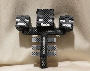 Minecraft Perler Bead Wither Boss