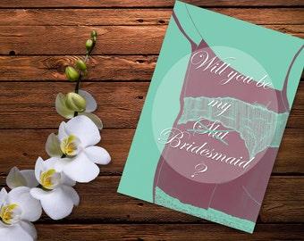Will you be my bridesmaid Digital  Card