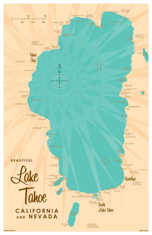 Gutsy image intended for printable map of lake tahoe
