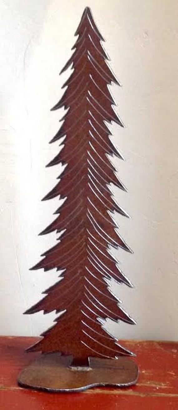 Metal tree pine christmas holiday by