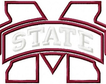Mississippi State Applique Embroidery