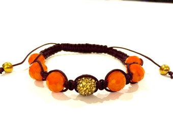 Hermes orange color shambala bracelet
