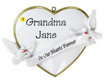 In Our Hearts Forever  Personalized Bereavement Ornament