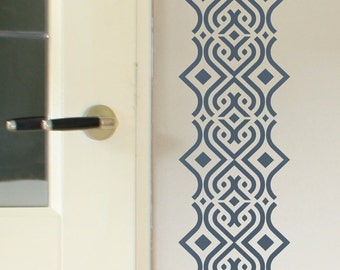 SAFI Border Wallpaper Stencil / Reusable Stencils • DIY •Home Decor • Interiors • Feature Wall • Wallpaper alternative