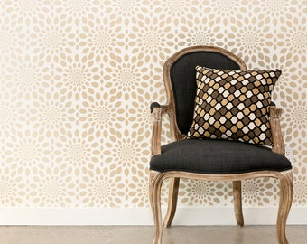 ARABESQUE CIRCLES Allover Wallpaper Stencil / Reusable Stencils • DIY •Home Decor • Interiors • Feature Wall • Wallpaper alternative