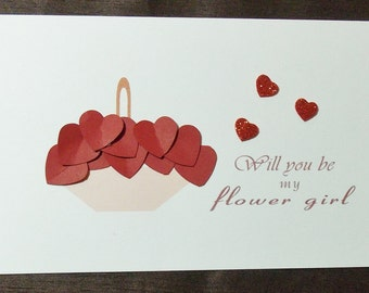 flower girl card with envelope will you be my bridesmaid