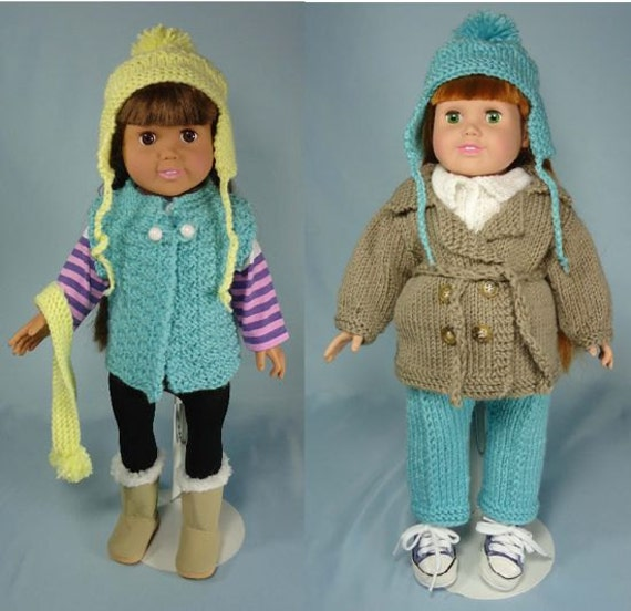Outdoor-Ables Knitting Patterns for 18 inch Dolls Immediate
