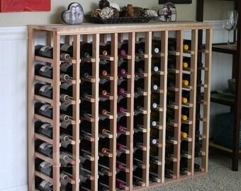 72 Bottle Table Wine Rack (Redwood) by VinoGrotto