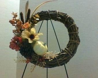 Eight Inch Fall  Grapevine Wreath