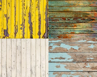 FREE EXPEDITED SHIPPING And Insurance ! Four 2ft x 2ft Mix And Match Vinyl Backdrops for Product Photos, Yellow, Green, Teal  and Cream Fl32