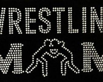 Bling Rhinestone Wrestling Mom Shirt