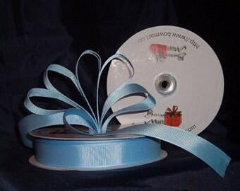 "Grosgrain Ribbon 7/8"" - 50 Yards (150 FT) - Light Blue - Sewing - Craft - Wedding Favors"
