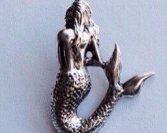 Mermaid Tie Tack  /Pin Label