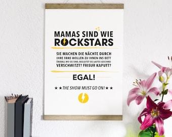 Rock Star Mama - print form type