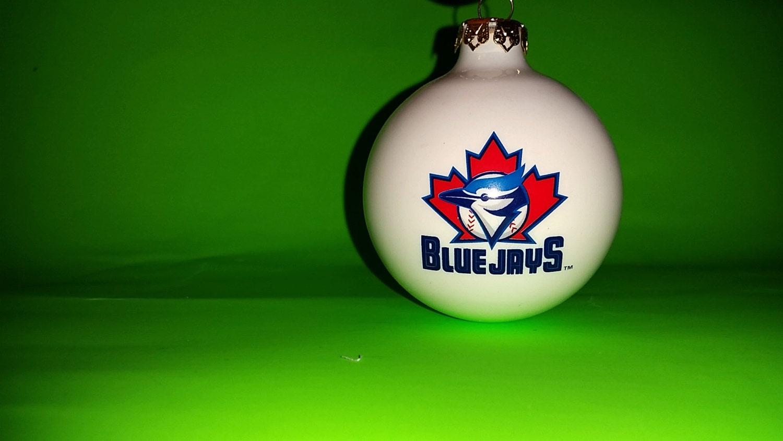 Vintage toronto blue jays s glass ball christmas ornament