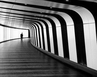 London print London photography futuristic art print photograph geometric black white Kings cross wallart home decor photo lines