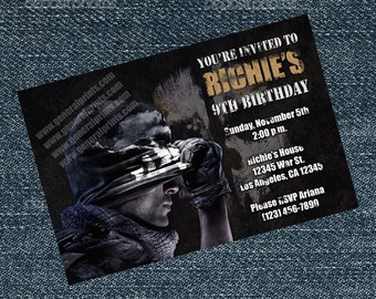 Call of Duty Invitations for any Birthday Party