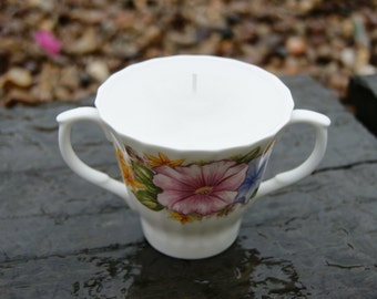 Vintage Twin Handled Cup Candle