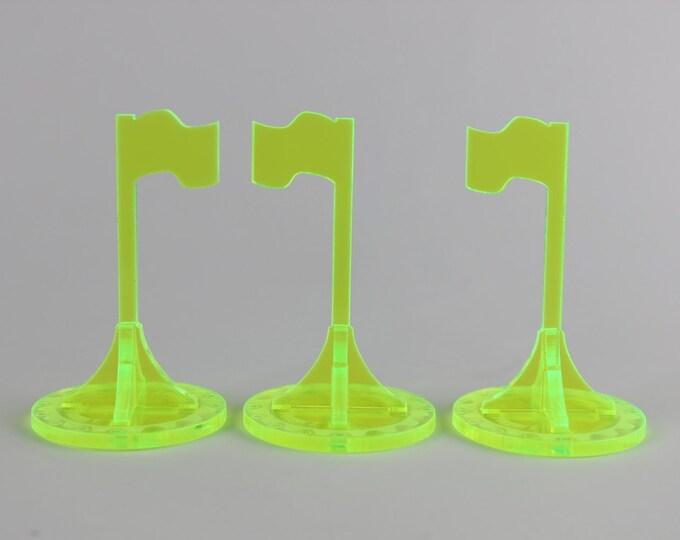 Neon Green - War Machine 3d Objective Flag 3 Pack