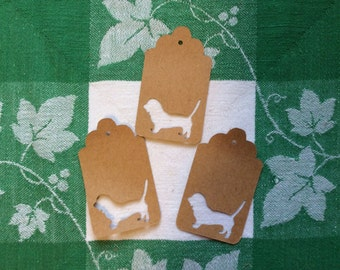 Die Cut Weiner Dog Dachshound Tag