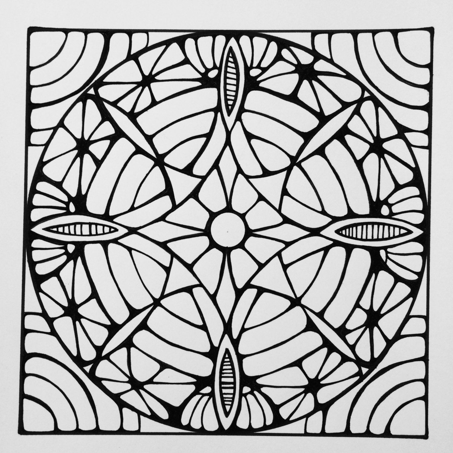 square mandala coloring pages - photo#13