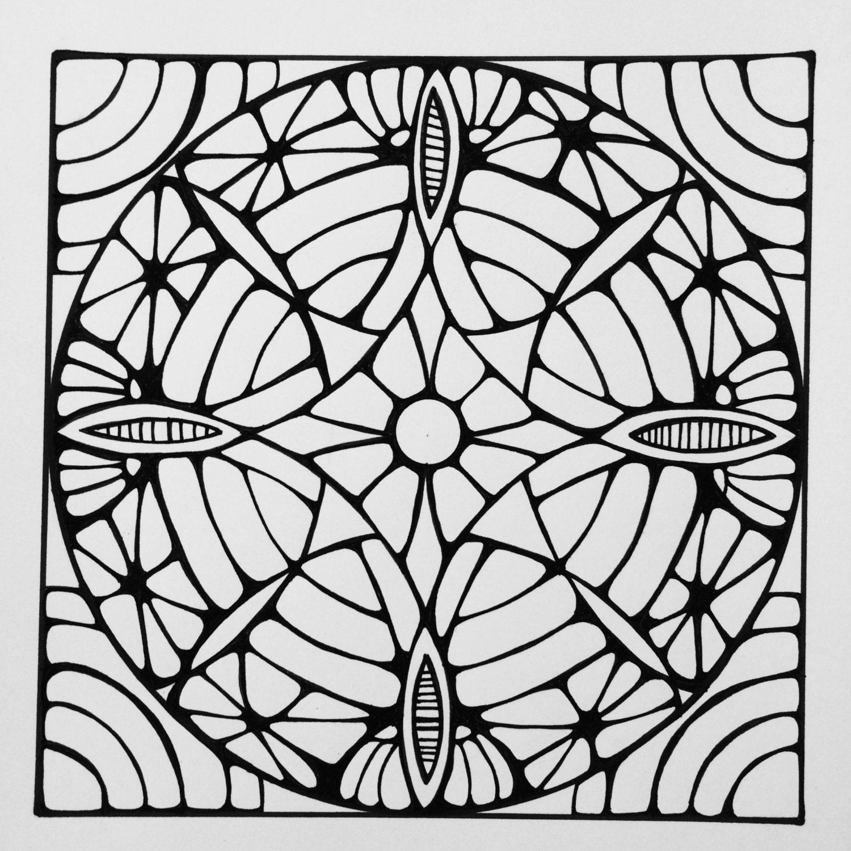 square mandala coloring pages - photo#11