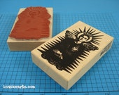 Frida of Guadalupe Stamp / Invoke Arts Collage Rubber Stamps