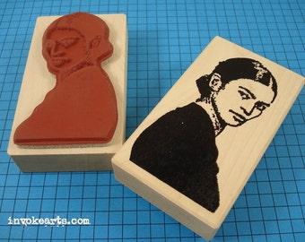 Frida's Glance Stamp / Invoke Arts Collage Rubber Stamps