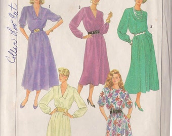 Simplicity 7800 Vintage 1986 Dress Sewing Pattern