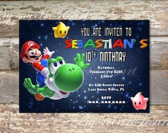 Mario Birthday Invitation / digital / printable/ custom made