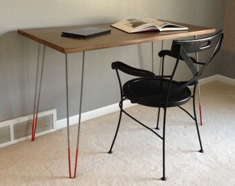 Mid Century Modern, Mid Century Modern Desk, Mid Century Modern Furniture, Hairpin legs