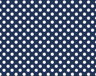 Small Navy Spot - Riley Blake Designs - 25cm