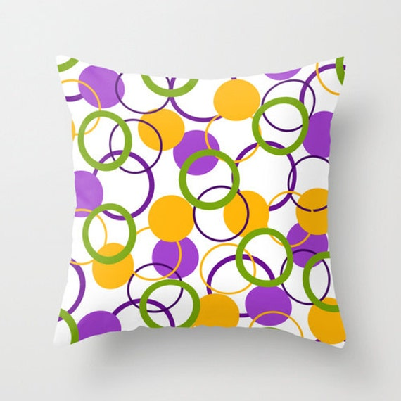 Colorful Outdoor Pillows Throw Pillow Purple by DesignbyJuliaBars
