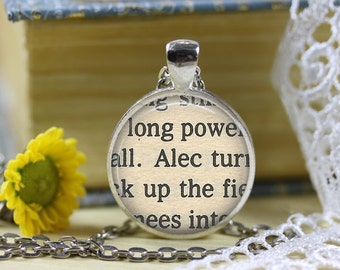 The Black Stallion Book Page Necklace