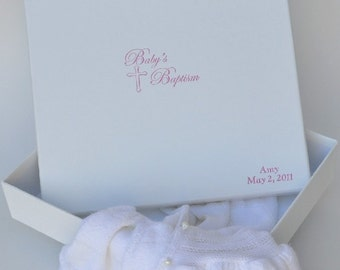 Baby Baptism Keepsake Box. Can be personalized at www.lifesmoments.biz