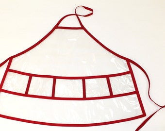 Kid's Apron: Little Girl's and Boy's Vinyl Aprons. Available sizes S, M, XL