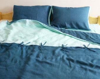 Linen Duvet Cover - Handmade linen duvet cover - Custom color