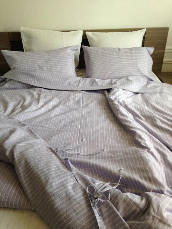 housse de couette en lin rayures par linenchicbedding sur etsy. Black Bedroom Furniture Sets. Home Design Ideas